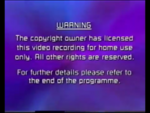 Paramount Home Entertainment 2000 Warning Screen
