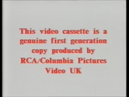 RCA-Columbia Pictures International Video Warning (1983) (S1)