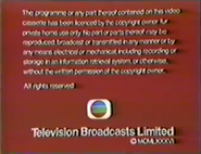 HK-TVB International Limited Warning Screen In English (1984-1988)