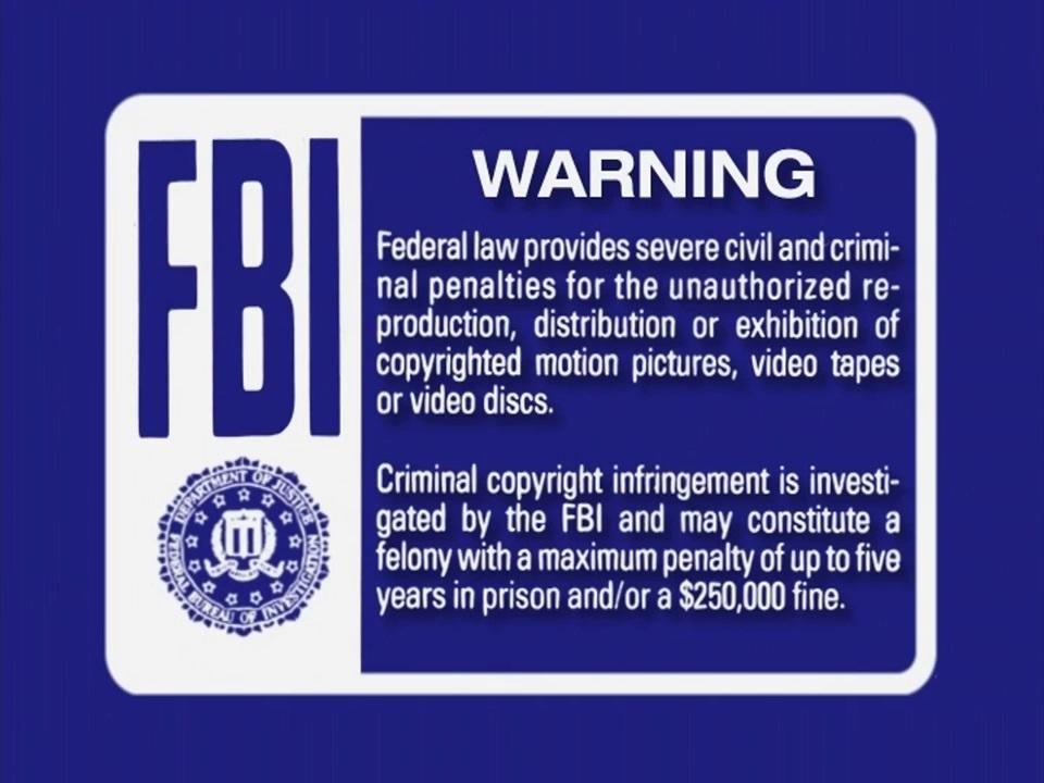First Look Warning Screen The Fbi Warning Screens Wiki