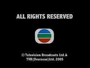 2005 - TVBI Company Limited Copyright Screen in English