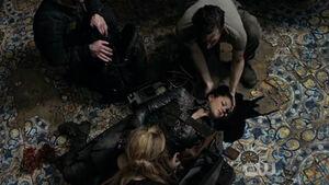 The 100 S3 episode 15 - Ontari's death shot