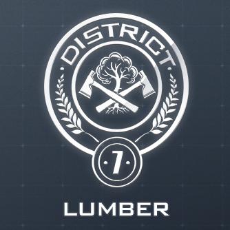 The Hunger Games District 7 Lumber Seal Logo Symbol Black Long T ...