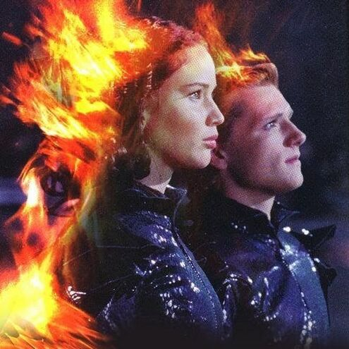 File:Katniss and Peeta on fire.jpg