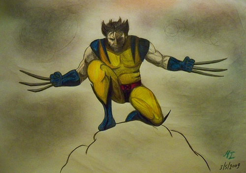 File:Wolverine pencil drawing.jpg