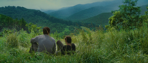 Gale & Katniss on hill