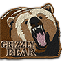 Grizzly bear badge