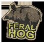 Feral hog badge