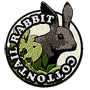 Cottontail rabbit badge