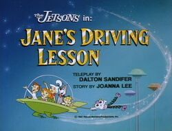 Jane's driving lesson title