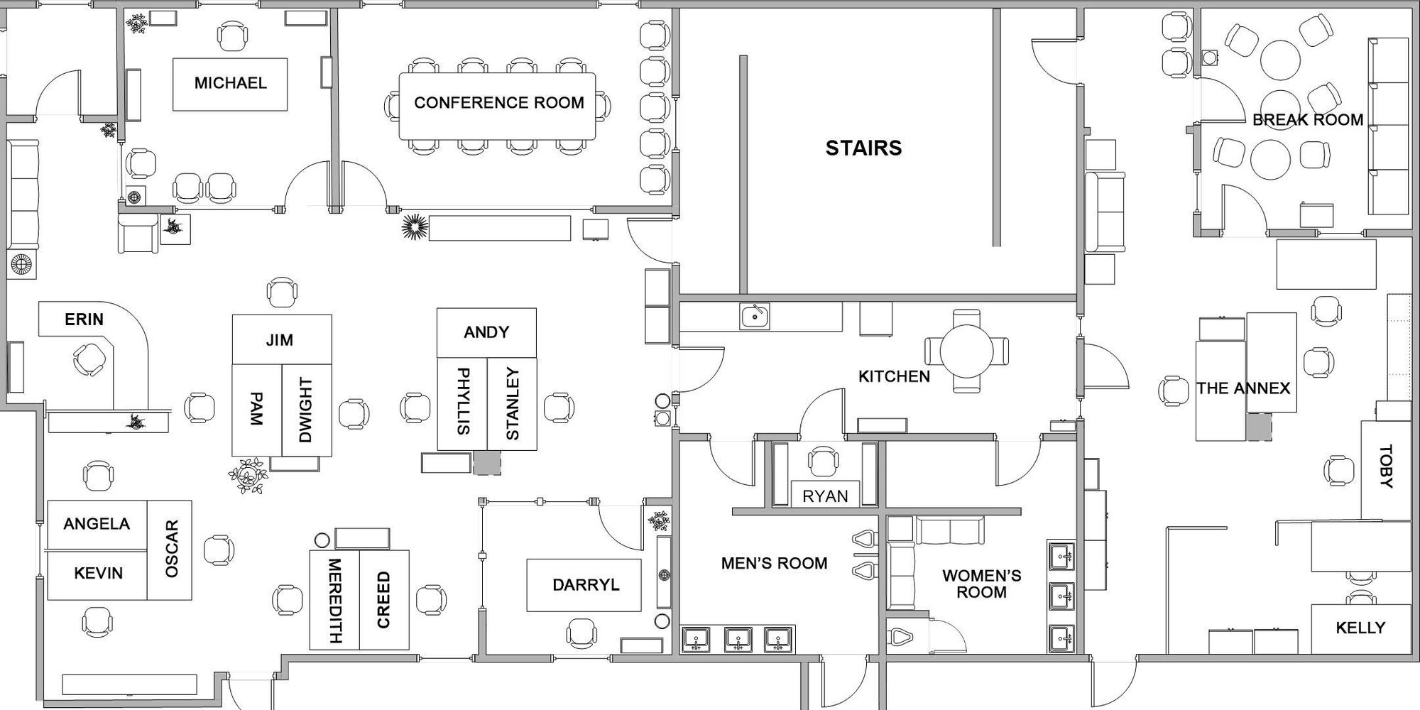 Dunder mifflin scranton dunderpedia the office wiki for Draw office floor plan