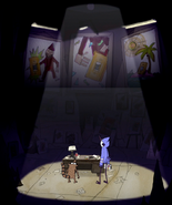 S3E34.183 Mordecai and Rigby Looking at Buttonwillow's Art