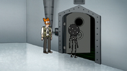 S7E07.066 Cat Masterson Leading Benson to the Visual Effects Studio