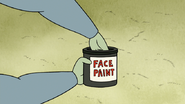 S3E35.202 Muscle Man's Hand in Face Paint