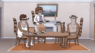 S7E27.039 Rigby's Mom Bringing Dinner