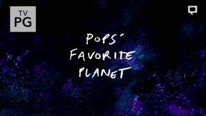 S7E31 Pops' Favorite Planet Title Card