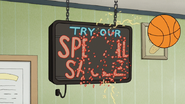 S5E10.100 Off the Try Our Special Sauce Sign