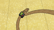 S4E26.110 Rigby Wearing the Alarm Watch
