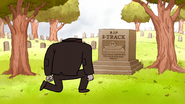 S6E16.064 Floppy Disk Paying Respect at 8-Track's Grave