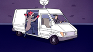 S7E04.061 Margaret Escaping on a News Van
