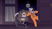 S7E09.323 Chocolate Taking Mordecai and Rigby Inside Her House