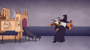 S7E09.341 Chocolate Witch Carrying Mordecai