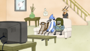 S5E19.155 Laughing at Rigby's Cowardice Scream