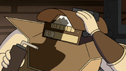 S6E16.056 Betamax Removing His Welding Mask