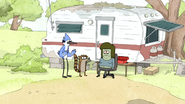S4E24.041 Mordecai Telling Muscle Man About the Donut Contest