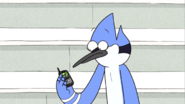 S03E16.039 Mordecai Listening To Margaret's Voice Message