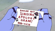 S6E11.053 Bowler Hat Singing Apology Gram!