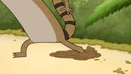S4E32.035 Rigby Slipping on Mud