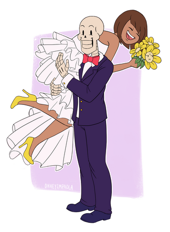 File:Papyrus and frisk wedding by ohheyimpaola-d9pvlmc.png