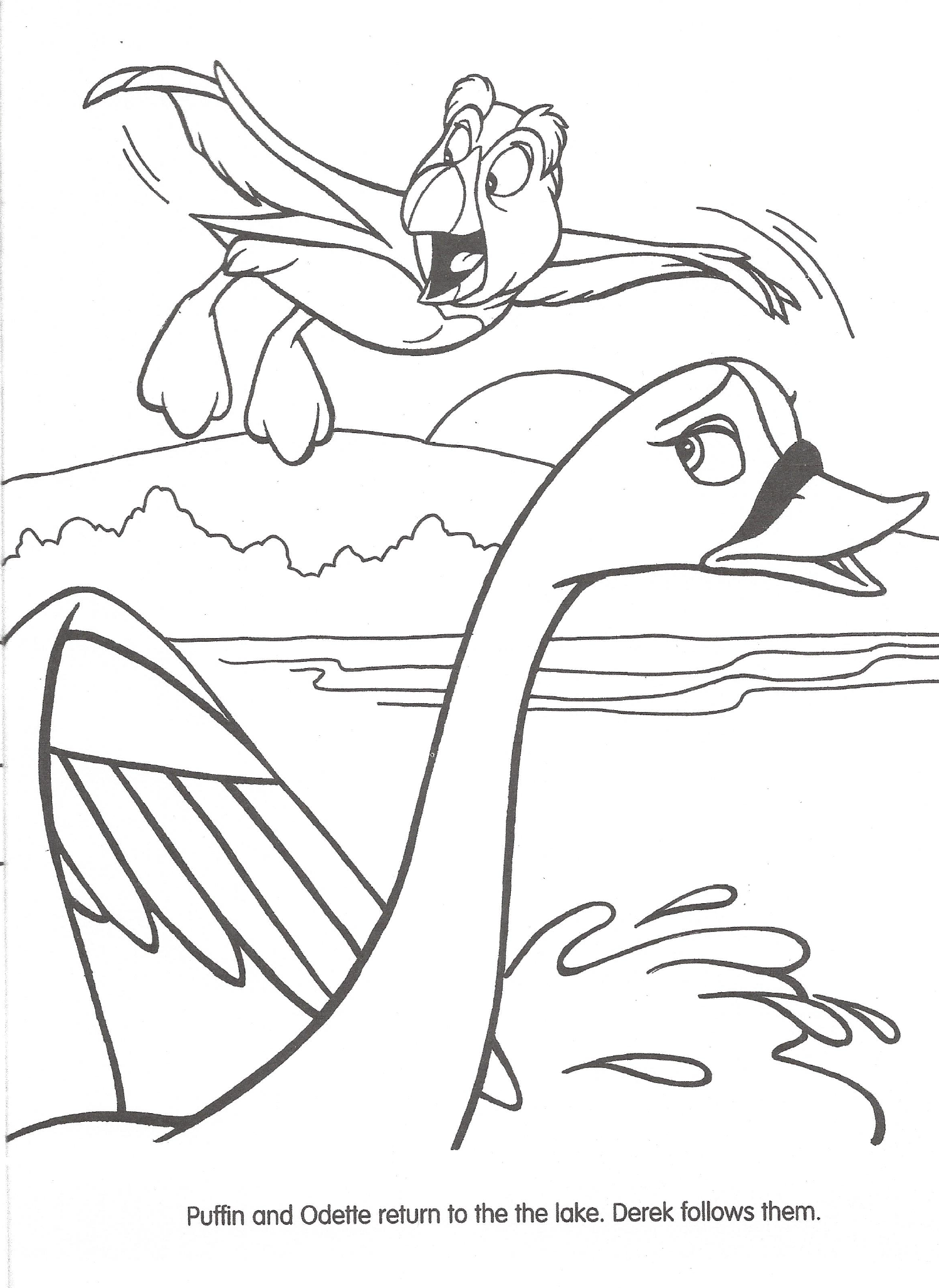 swan princess coloring pages free - photo#20