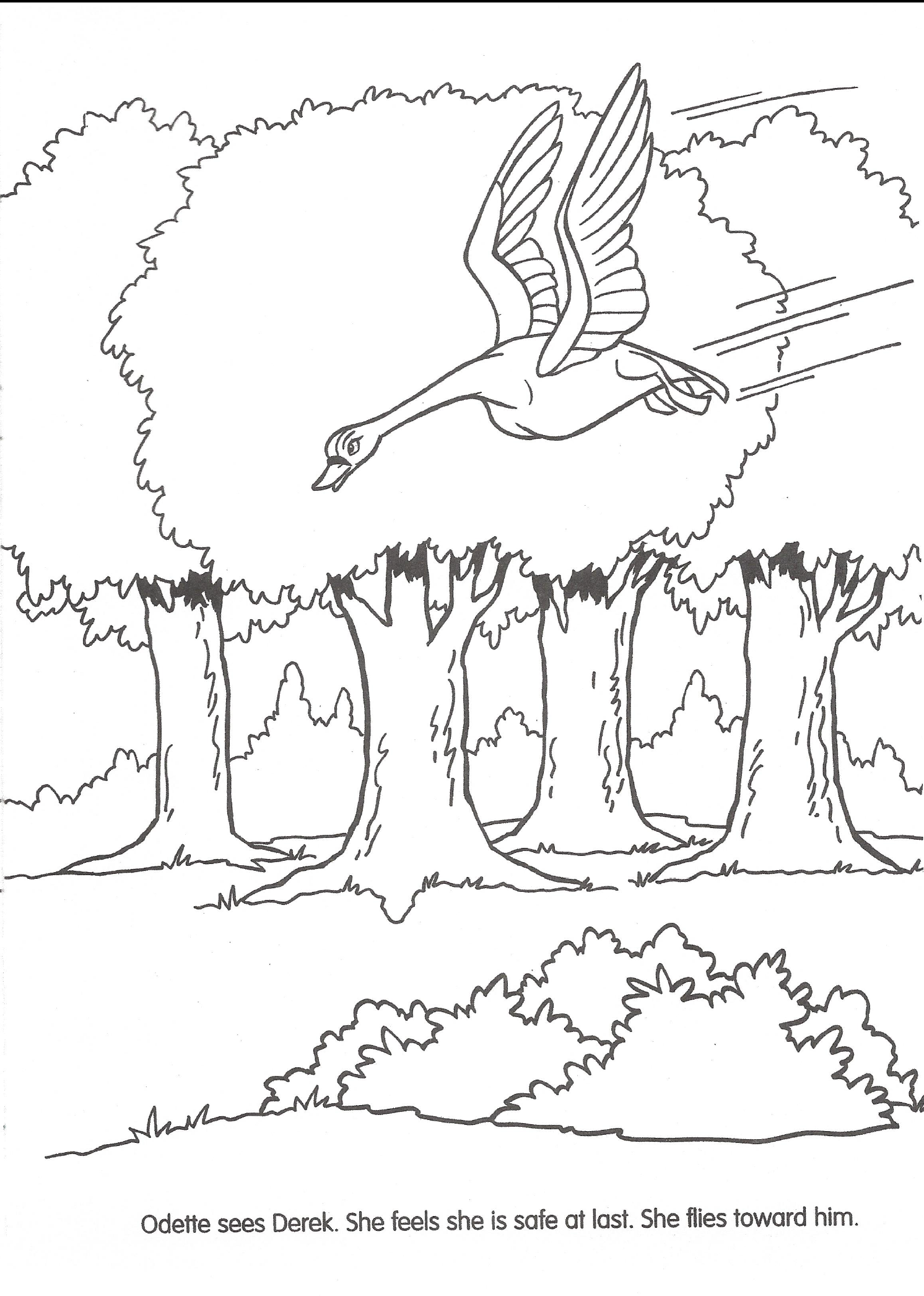 odette and derek coloring pages - photo#31