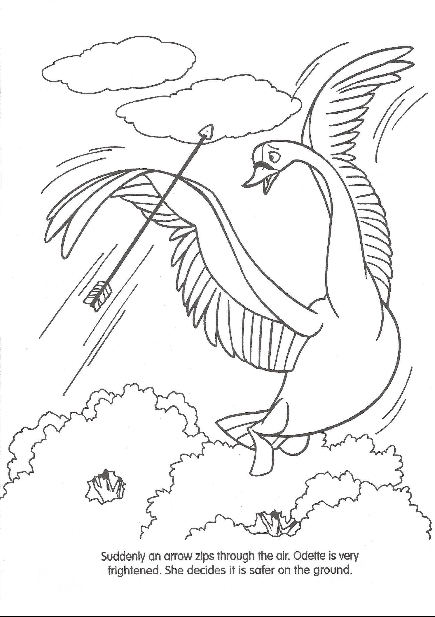 swan princess coloring pages free - photo#30