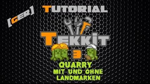 Minecraft Tekkit Classic Tutorial DE HD - Quarry + Landmarken