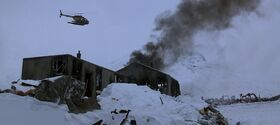 Norwegian camp (composite shot) - The Thing (1982)