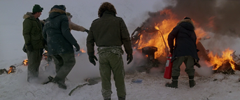Norge helicopter wreckage - The Thing (1982)