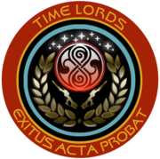 Timelords Command with Gallifreyan symbol