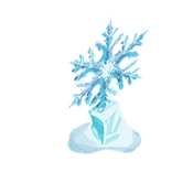 Decoration 1x1 snowflake 1 tn@2x