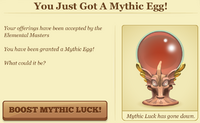 You just got a mythic egg model
