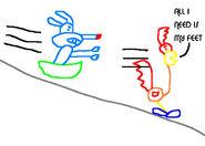 Calamity and beeper sledding by mrjoshbumstead-d5rfkyv