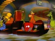 Tiny Toons' Junior Monsters, Miniature Gossamer (Rudolph Jr.) and Little Gremlin (Gremloid Jr.)
