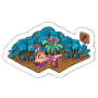 Sticker rusticpalmtrees@2x