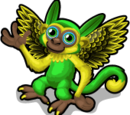 Green Parakeet Monkey