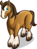 Clydesdale Horse single