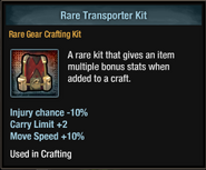 Tlsdz crafting kit - rare transporter kit