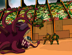 Turtles take on monster