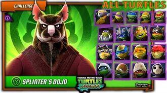 Splinter VS ALL Ninja Turtles (LARP, Movie, Vision, Classic) and Metalhead. TMNT Legends